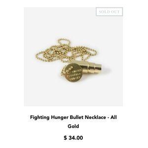 Half United Fighting Hunger Bullet Necklace